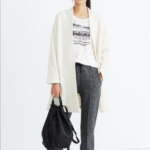 Madewell Langley Swing Coat Cardigan Thick
